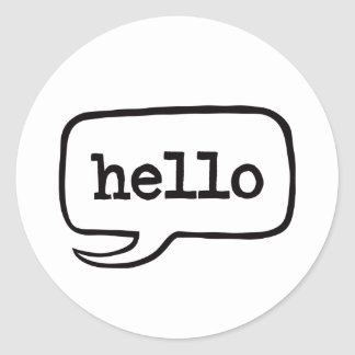 Hello (Hi Hello Greetings) Classic Round Sticker