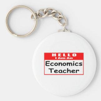 Hello, I Am An Economics Teacher ... Nametag Key Chains