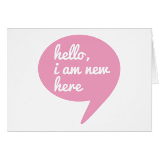 hello, I am new here, text design for baby shower Greeting Card