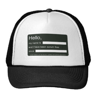 Hello, I am scrum free (hat) Cap
