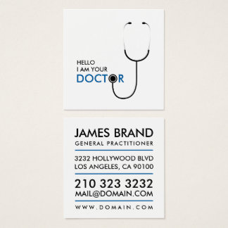 Hello I am your Doctor General Practitioner Square Business Card
