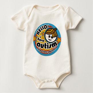 HELLO I HAVE AUTISM - AWARENESS BABY BODYSUIT