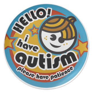 HELLO I HAVE AUTISM - AWARENESS PLATES