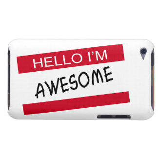 Hello Im Awesome Barely There iPod Cover