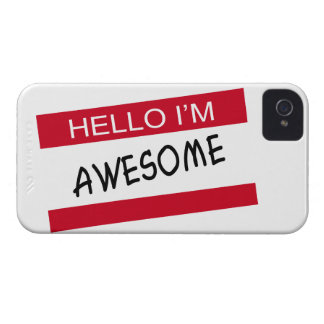 Hello Im Awesome iPhone 4 Covers