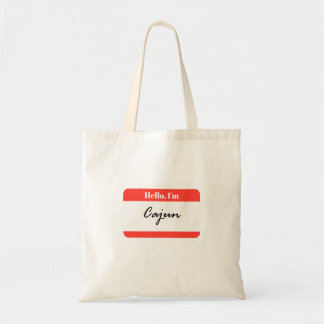 Hello, I'm Cajun Name Tag Basic Tote