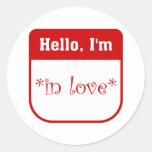 Hello I'm in love stickers