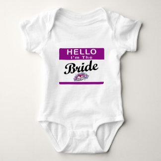 Hello I'm The Bride Baby Bodysuit