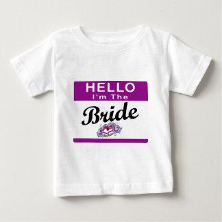 Hello I'm The Bride Baby T-Shirt