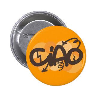 Hello in Italian 6 Cm Round Badge
