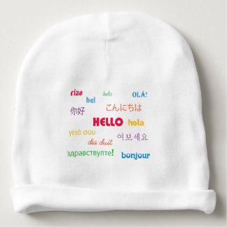 Hello in Many Languages Baby Beanie