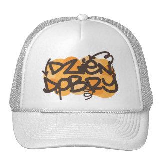 Hello in Polish graffiti style Cap