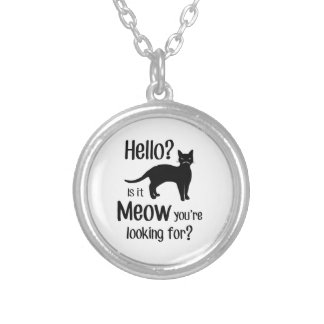 Hello is it meow you are looking for round pendant necklace