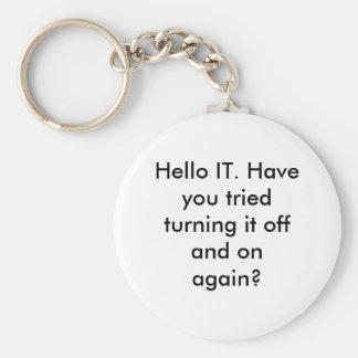 Hello IT Keychain