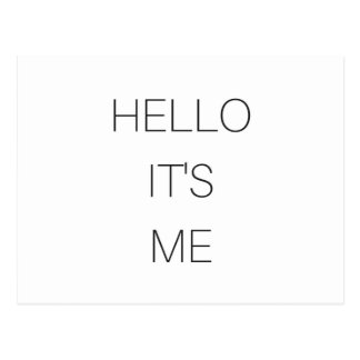 Hello It's Me Text Design Paper Products Postcard