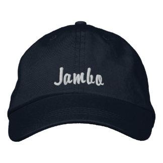 Hello Jambo Swahili Kenya greeting navy Embroidered Baseball Caps