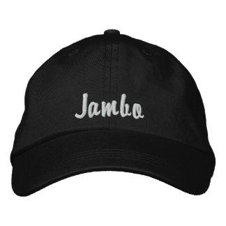 Hello Jambo Swahili Kenya greeting pink Embroidered Hat