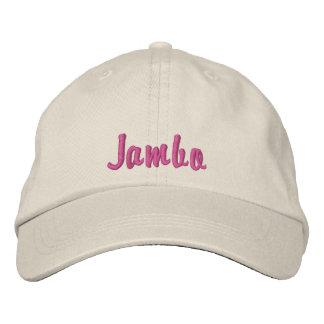 Hello Jambo Swahili Kenya greeting pink Embroidered Hats