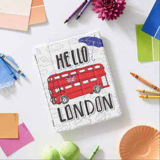 Hello London | Hand Lettered Sign With Umbrella iPad Cover