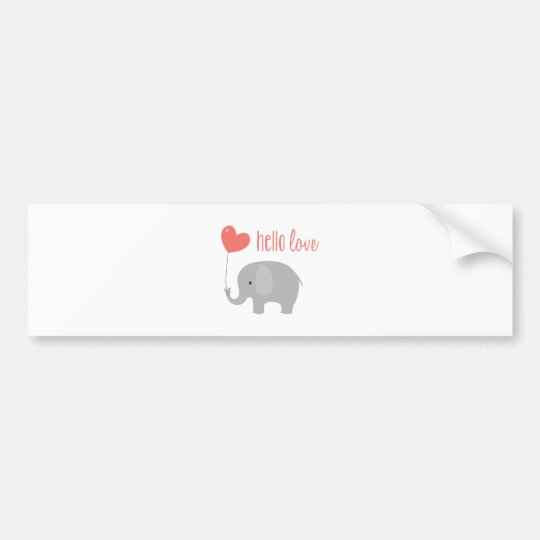 Hello Love Bumper Sticker