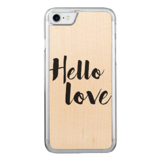 Hello Love Carved iPhone 8/7 Case