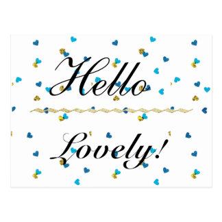 Hello Lovely Postcard
