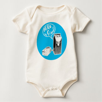 Hello, me friend! baby bodysuit
