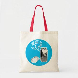Hello, me friend! tote bag