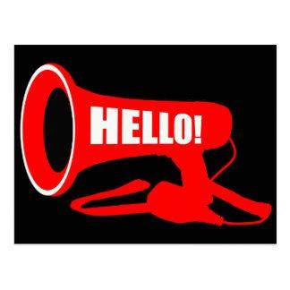 Hello Megaphone Post Card