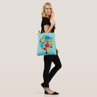 Hello & Merry Christmas Tote Bag