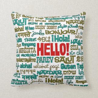 Hello (Multi Language) Pillow