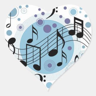 hello music heart sticker