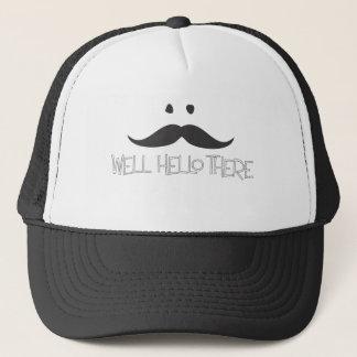 Hello Mustache Trucker Hat