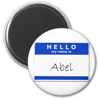 Hello My Name Is Abel Refrigerator Magnets