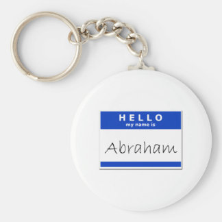 Hello My Name Is Abraham Basic Round Button Key Ring