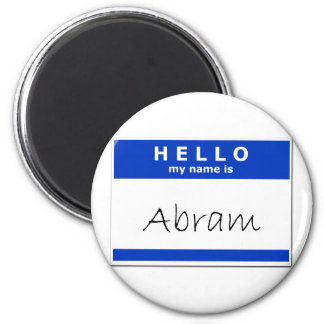 Hello My Name Is Abram Refrigerator Magnets