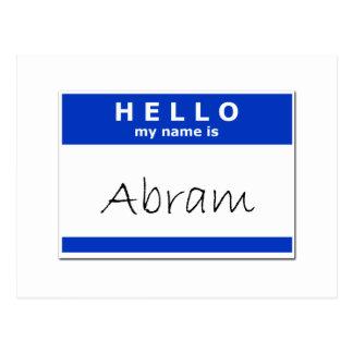 Hello My Name Is Abram Postcard