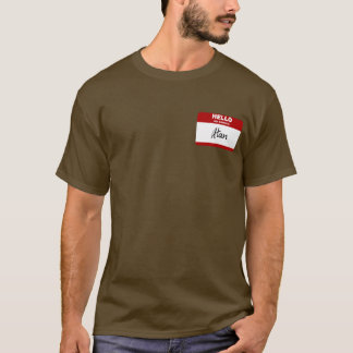 Hello My Name Is Alan (Red) T-Shirt