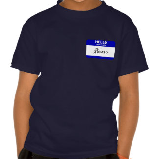 Hello My Name Is Alonso (Blue) T Shirts
