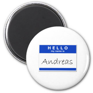 Hello My Name Is Andreas Fridge Magnet