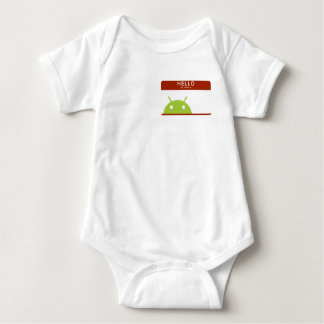 hello my name is Android Baby Bodysuit