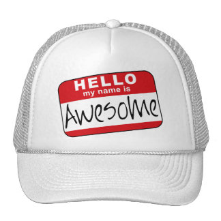 Hello My Name is Awesome Hats