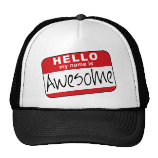 Hello My Name is Awesome Mesh Hats