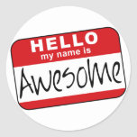 Hello, My Name is Awesome Sticker