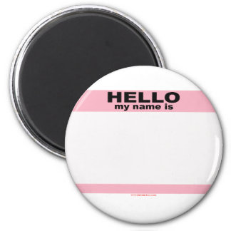 Hello my name is BLANK PINK copy 6 Cm Round Magnet