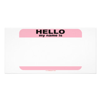 Hello my name is BLANK PINK copy Picture Card
