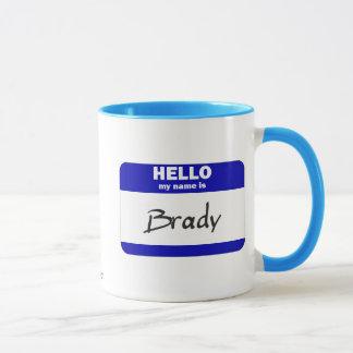 Hello My Name Is Brady (Blue) Mug