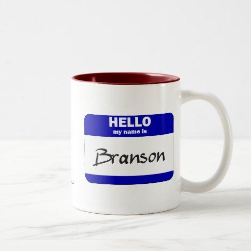 Hello My Name Is Branson (Blue) Coffee Mug
