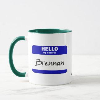 Hello My Name Is Brennan (Blue) Mug
