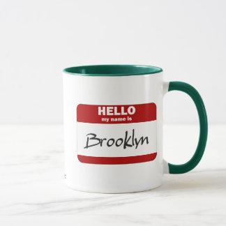Hello My Name Is Brooklyn (Red) Mug